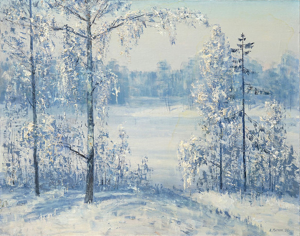 마트베예프 Matveev A.G. / The winter frost / 100 x 80cm / Oil on Canvas